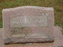 Ruby <i>Page</i> Bowen