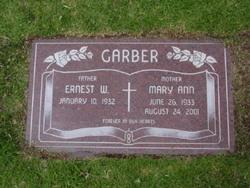Mary Ann <i>Thomas</i> Garber