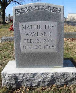 Mattie Fry Wayland