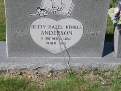 Betty Hazel <i>Kimble</i> Anderson