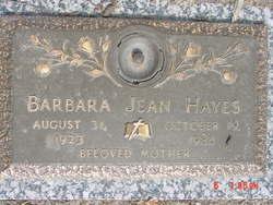 Barbara Jean Hayes