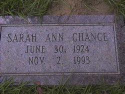 Sarah Ann Chance