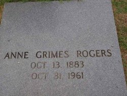 Annie Toombs <i>Grimes</i> Rogers