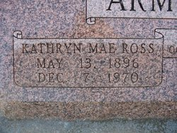 Kathryn Mae <i>Ross</i> Armstrong