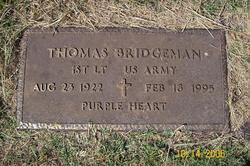 Lieut Thomas Bridgeman