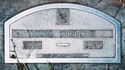 Annie Eliza (baby) Whitney