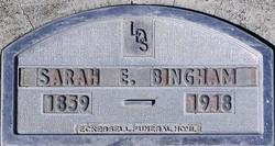 Sarah Elizabeth Liddie <i>Foster</i> Bingham