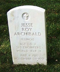 Sgt Jesse Roy Archibald