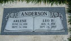 Grace Arlene <i>Johnson</i> Anderson