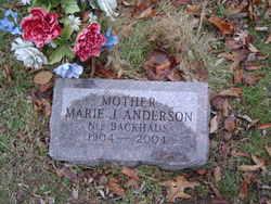 Marie J <i>Backhaus</i> Anderson
