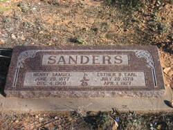 Esther B <i>Earl</i> Sanders