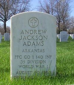 PFC Andrew Jackson Adams