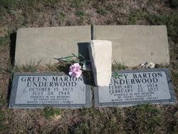 Green Marion Underwood