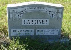 Mary Eliza <i>Mudd</i> Gardiner