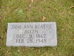 Jane Ann <i>Beattie</i> Allen