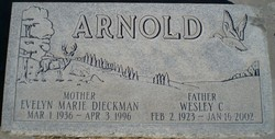 Evelyn Marie <i>Dieckman</i> Arnold