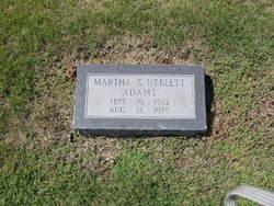 Martha S. <i>Neblett</i> Adams