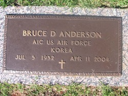 Bruce D Anderson