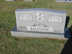 Betty <i>Hall</i> Balentine