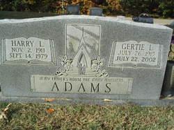 Gertie L. <i>Tate</i> Adams