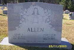 Janettie Catherine <i>Moore</i> Allen