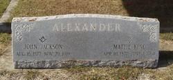 Mattie <i>King</i> Alexander
