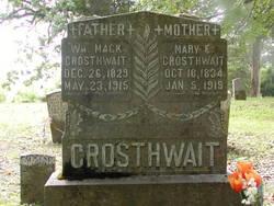 Mary E <i>McBride</i> Crosthwait