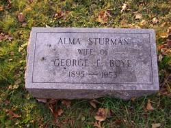 Alma <i>Sturman</i> Boye