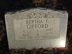 Bertha F <i>Rose</i> Gifford