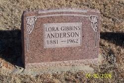 Lora <i>Gibbins</i> Anderson