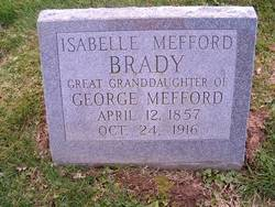 Isabelle Henry <i>Mefford</i> Brady