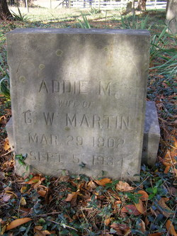 Addie M Martin