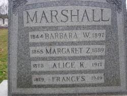 Alice K Marshall
