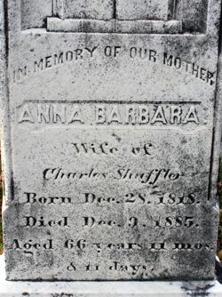 Anna Barbara Schaeffler <i>Brish</i> S(c)huffler