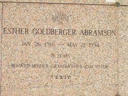 Esther <i>Goldberger</i> Abramson