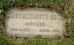 Mary Elizabeth <i>Morgan</i> Heck