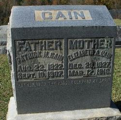 Elizabeth A Cain