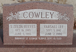 Sarah Zelda <i>Reeves</i> Cowley