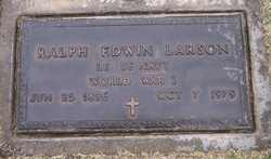 Ralph Edwin Larson