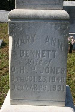 Mary Ann Bennett Jones