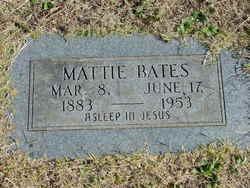Martha Lucinda Mattie <i>Nelson</i> Bates