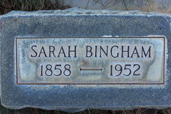 Sarah Ann <i>Smith</i> Bingham