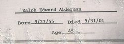 Ralph Edward Butch Alderman