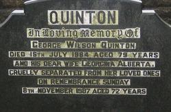 Georgina Alberta <i>Coulter</i> Quinton