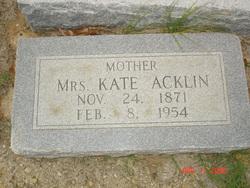 Mrs. Kate <i>Alexander</i> Acklin