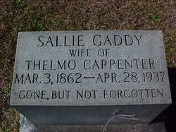 Sarah Catherine <i>Gaddy</i> Carpenter