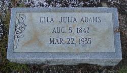 Ella Julia Adams