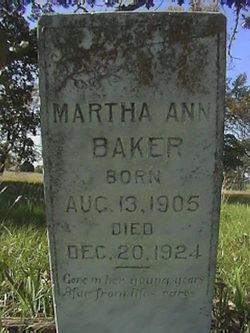 Martha Ann Baker