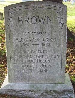 Jane <i>MacIntosh</i> Brown