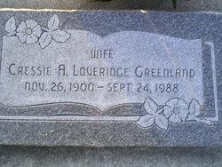 Cressie Althera <i>Loveridge</i> Greenland